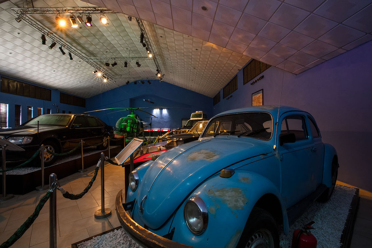 Olusegun Obasanjo's Beetle on display at the arrival pavilion in OOPL