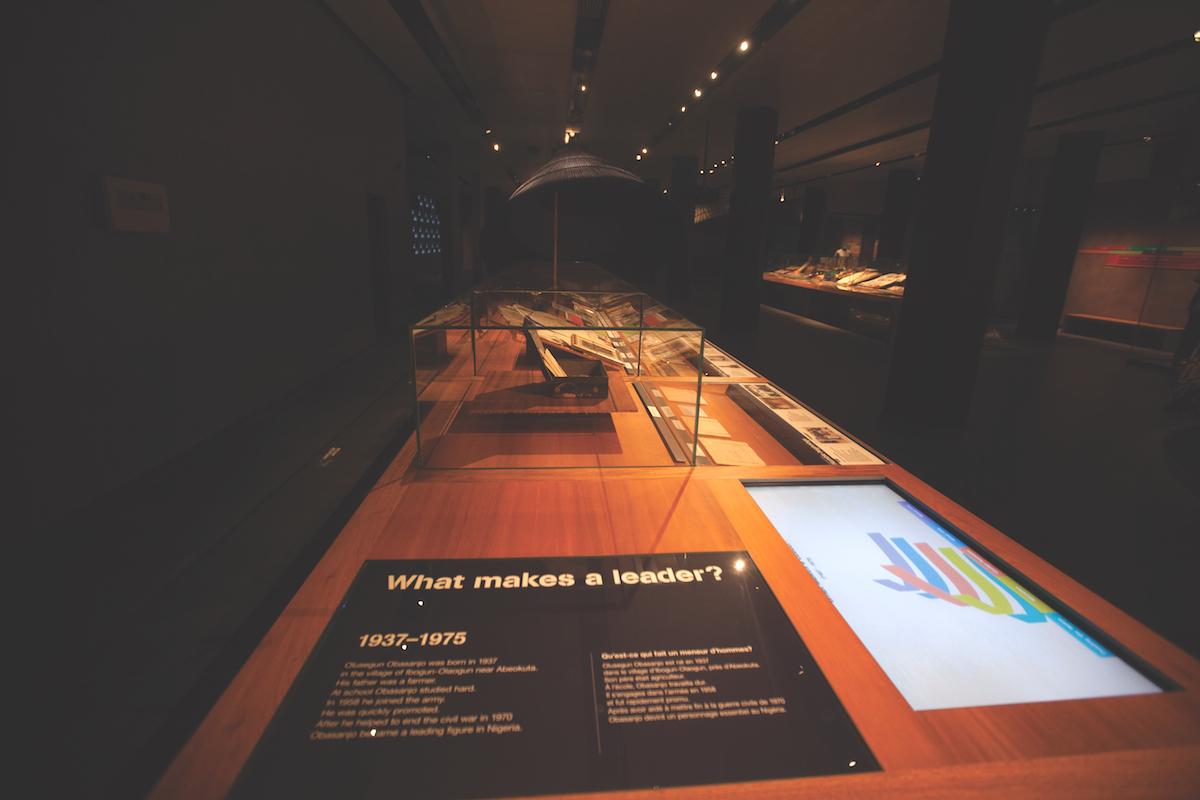 Cross section of displays in OOPL museum