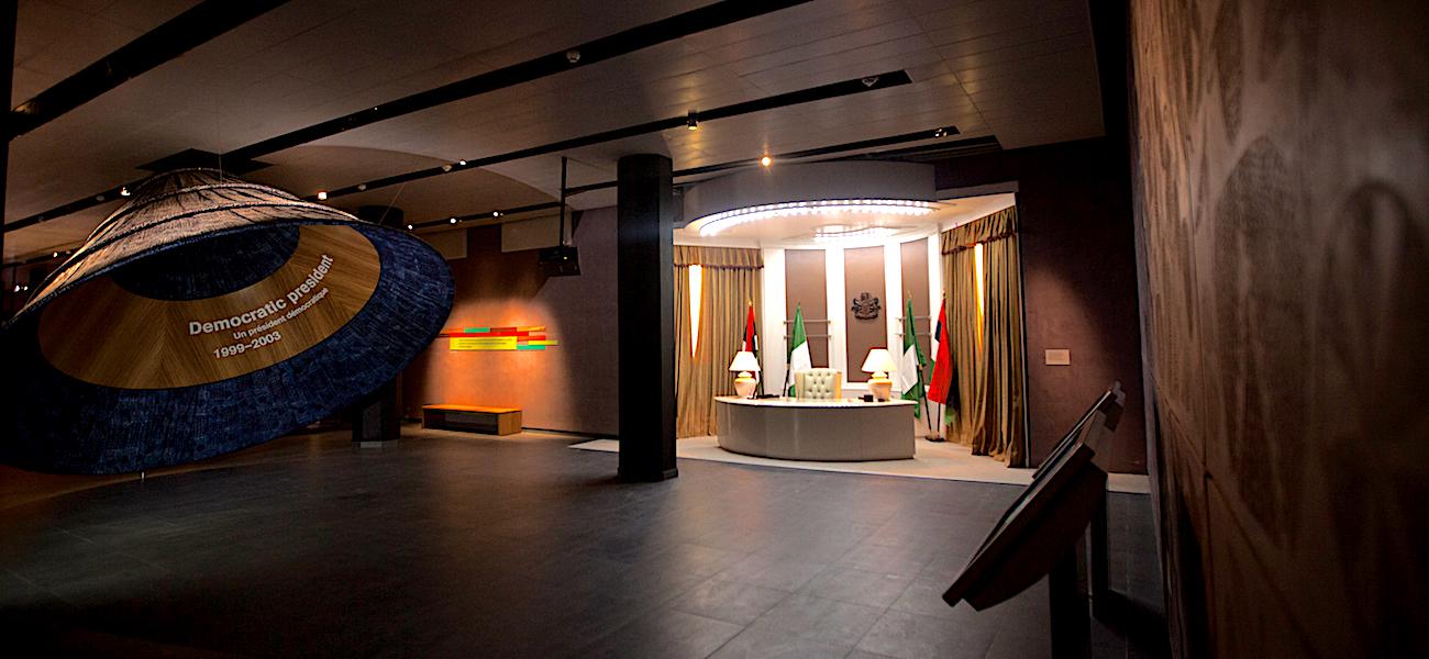 A replica of the Aso Villa office by President Olusegun Obasanjo